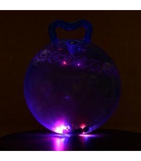 Świecąca piłka do skakania - niebieska