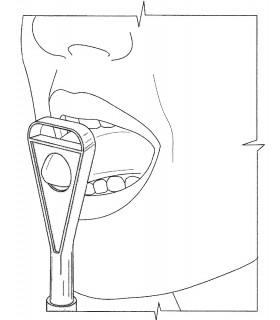 Końcówka do masażera logopedycznego, ćwiczenia języka - lateralizacji, pionizacji