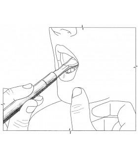 Końcówka do masażera logopedycznego, łyżeczka z wypustkami