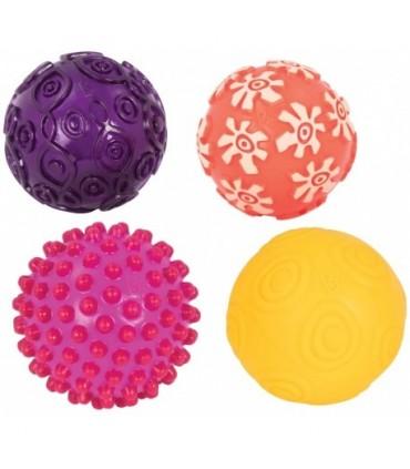 Zestaw 4 piłek sensorycznych